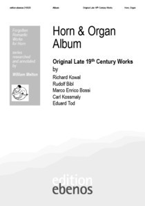 Album, Horn & Organ / Original Late 19th Century Works