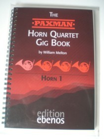 ​The PAXMAN Horn Quartet Gig Book